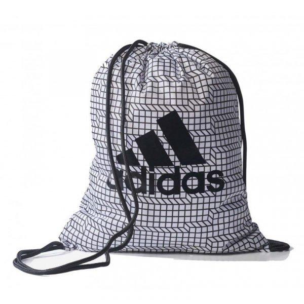 Mochila saco Adidas 3 Brushed Gym Bag Blanco/Negro