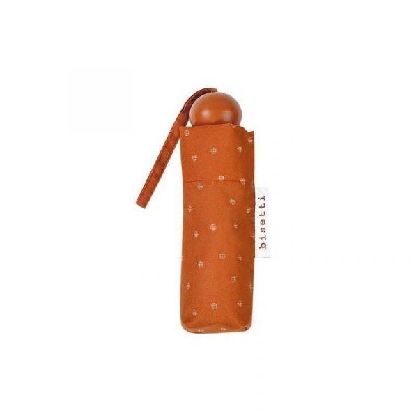 Paraguas plegable Bisetti mini Topos Teja