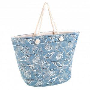 Bolsa de playa algodón Kbas Binidalí Azul