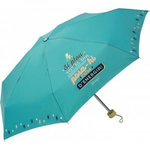 "Paraguas plegable Mr. Wonderful CAT ""Si plou tot el dia posa-hi extra d´energia!"" Verde"