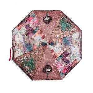 Paraguas plegable automático Anekke COUTURE Beige