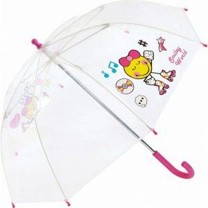 Paraguas infantil transparente largo SMILEY 26170